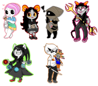 pasteljellyfish:  These are all the homestuck stickers I gave out this year at A-kon, you guys were so nice i'll see you all tomorrow ;u;: pasteljellyfish:  These are all the homestuck stickers I gave out this year at A-kon, you guys were so nice i'll see you all tomorrow ;u;
