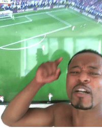 Soccer, Goal, and Today: Patrice Evra on Pogba when he scored his goal today 😂😂