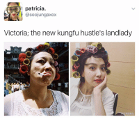 Memes, 🤖, and Victoria: patricia  asoojungaxox  Victoria; the new kungfu hustle's landlady y'all . . . . . . . . Credit to owner✌