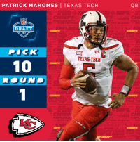 Memes, Chiefs, and Dick: PATRICK MAHOMES I TEXAS TECH  DRAFT  CHIEFS  2017  DICK  TEXAS TECH  10  CHIEFS  QB The @Chiefs trade up to select @TexasTechFB QB @PatrickMahomes5 with the #10 overall pick!  #NFLDraft https://t.co/sfGVDB4onn