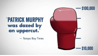 Memes, Heat, and Help: PATRICK MURPHY  was dazed by  an uppercut.  Tampa Bay Times  $100,000  $10,000 We left Patrick Murphy dazed at the debate this week, but a new poll shows this race is in a dead heat! Help us deliver the knockout punch we need to finish strong the next few weeks. Donate NOW!  ---> http://bit.ly/2ekBXNe