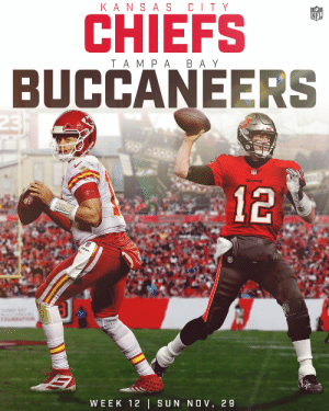 .@PatrickMahomes vs. @TomBrady. @Chiefs vs. @Buccaneers.  Prepare the cannons for Week 12. 🎆 https://t.co/OP7UtkpOsg: .@PatrickMahomes vs. @TomBrady. @Chiefs vs. @Buccaneers.  Prepare the cannons for Week 12. 🎆 https://t.co/OP7UtkpOsg