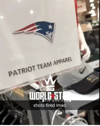 Memes, Hip Hop, and 🤖: PATRIOT TEAM APPAREL  WOAL ST  HIP HOP. C  shots fired Imao Why they had to do the NewEnglandPatriots like that though?! 🏈😳😩