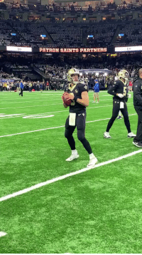 Memes, New Orleans Saints, and Superbowl: PATRON SAINTS PARTNERS .@drewbrees gets loose with a spot in the @SuperBowl on the line... #HomeInTheDome #NFLPlayoffs  📺: #LARvsNO | 3:05pm ET on FOX https://t.co/KzCtUAxdct