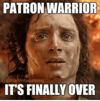 """PATRON WARRIOR  omodentogaming  ITS FINALLY OVER """"Everyone, get the f*ck out of here!"""" @madentogaming hearthstone gaming gamingmemes gamingmeme grimpatron patronwarrior nerf blizzard blizzcon blizzcon2015 worldofwarcraft"""
