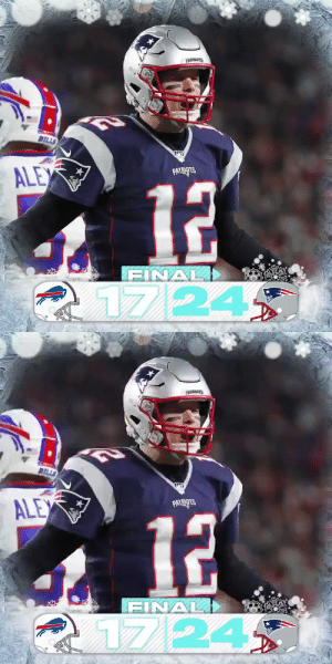 FINAL: The @Patriots clinch their 11th straight AFC East title! #BUFvsNE #GoPats https://t.co/c0qp5kYeO8: PATRS  BILLS  ি  ALEX  PATRIOTS  12  FINAL)  1724   BELLS  ALEX  PATRIPTS  12  FINAL  17/24 FINAL: The @Patriots clinch their 11th straight AFC East title! #BUFvsNE #GoPats https://t.co/c0qp5kYeO8