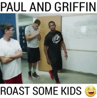Basketball, Blake Griffin, and Chris Paul: PAUL AND GRIFFIN  ROAST SOME KIDS Chris Paul and Blake Griffin are savages for this 😎 @athleticsplays FOLLOW @ATHLETICFILM FOR MORE! - Tags: nfl mlb nba nhl baseball basketball football hockey soccer tennis golf sports like follow dunk lol haha funny lebron ncaa highlights jcole drake trump america curry news health fitness gym