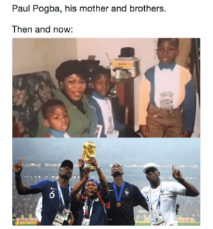 Pogbas family then and now: Paul Pogba, his mother and brothers.  Then and now:  WORLD Pogbas family then and now