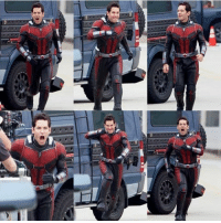 Paul Rudd having fun in costume on the set of ANT-MAN AND THE WASP!  (Andrew Gifford): Paul Rudd having fun in costume on the set of ANT-MAN AND THE WASP!  (Andrew Gifford)