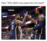 """Pacers almost had it 😳 pacers nbaplayoffs nba nbamemes cavs paulgeorge: Paul: """"Why didn't you pass the rock back""""  @NBAMEMES Pacers almost had it 😳 pacers nbaplayoffs nba nbamemes cavs paulgeorge"""