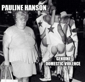 A new format: PAULINE HANSON  GENUINE  DOMESTIC VIOLENCE A new format