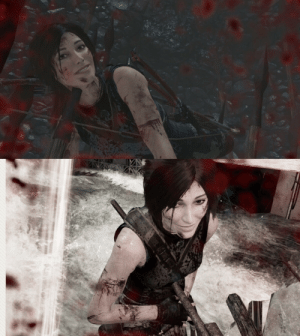 Pausing the death animations in Tomb Raider and changing her face to a smile is great fun.: Pausing the death animations in Tomb Raider and changing her face to a smile is great fun.
