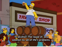Americans celebrate the end of prohibition (1933): PAVSHOP  ETo alcohol! The cause of, and  solution to, all of life's problems. Americans celebrate the end of prohibition (1933)