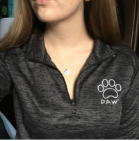 Thanks @megann_june for the support in our black quarter zip & silver Pawz necklace order now at PawzShop.com 🐶🐾: PAW Thanks @megann_june for the support in our black quarter zip & silver Pawz necklace order now at PawzShop.com 🐶🐾