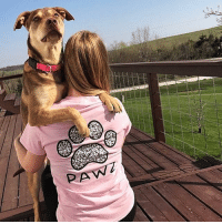 Thanks @savannah_kistler for the support in our grapefruit mosaic shirt 🐾 order now at PawzShop.com: PAW Thanks @savannah_kistler for the support in our grapefruit mosaic shirt 🐾 order now at PawzShop.com