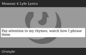 SIZZLE: Pay attention to my rhymes, watch how I phrase them