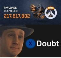Video Games, Doubt, and Payload: PAYLOADS  DELIVERED  217,817,802  Doubt