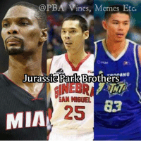 long lost... 😝😝😝  - LabsKoh2: @PBA Vines, Memes Etc.  ANC  Jurassic Park  Brothers  SAN MIGUEL  25  MIA long lost... 😝😝😝  - LabsKoh2