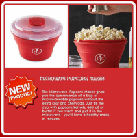 Last week to purchase from the Pampered Chef fundraiser.: PC  PTC  mICROWAve POPCORN mAKeR  PRODUCT  The Microwave Popcorn Maker gives  you the convenience of a bag of  microwaveable popcorn without the  extra cost and chemicals. Just fill the  cup with popcorn kernels, add oil or  butter if you want, and put it in the  microwave you'll have a healthy snack  in minutes. Last week to purchase from the Pampered Chef fundraiser.