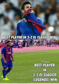 Barcelona, Memes, and Real Madrid: PCD THE  CLUD  BEST PLAYERIN 3-2 EL CLASICO WIN  ATA  DYNAMITE  BEST PLAYER  IN  3-2 EL CLASICO  LEGENDS) WIN Both Number 10 <3 Both nightmare of Real Madrid <3  Credits : F.C Barcelona : The Legendary Clubb  #Dynamite
