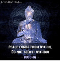 Buddha: PEACE COMES FROM WITHIN.  DO NOT SEEK IT WITHOUT  BUDDHA