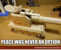 Game over, dogs.: PEACE WAS NEVER AN OPTION  memecenter.com/austyn Game over, dogs.