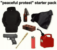 "Let the hate flow through you payattentionamerica: ""peaceful protest"" starter pack Let the hate flow through you payattentionamerica"