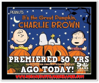 """One of My Favorites!!  Don't Forget to """"LIKE"""" Decades with Joe E Kramer on Facebook https://www.facebook.com/decadeswithjoeekramer/: PEANUTS  t's the Great Pumpkin,  CHARLIE BROWN  C.)  PREMIERED 50 YRS  ICFOREVER  YEARS One of My Favorites!!  Don't Forget to """"LIKE"""" Decades with Joe E Kramer on Facebook https://www.facebook.com/decadeswithjoeekramer/"""