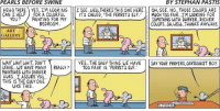 "Where is FDR when we need him?: PEARLS BEFORE SWINE  BY STEPHAN PASTIS  HELLO THERE. YES...IM LOOKING ISEE.. ELL THERE THIS ONE HERE  OH,GEE. NO...THOSE COLORS ARE  CAN I HELP FOR A COLORFUL  H IT'S CALLED, ITHE FERRETS ELF.' MUCH TO FAIR...I'M LOOKING FOR  YOU? PAINTING FOR MY  SOMETHING WITH DARKER, RICHER  BEDROOM  COLORS. OH WELt. THANKS ANYWAYS.  ART  GALLERY  WAIT WAITWAIT DON'T  YES.. THE ONY THING WE HAVE  SAY YOUR PRAYERS CARTOONIST BOY  LEAVE... WE HAVE MANY REAWY? TOO FAIR IS ""FERRETS ELF.""  PAINTINGS WITH DARKER  HUES...I ASSURE YOU.  THIS IS THE ONUY ONE  LIKE THIS  ASTIS Where is FDR when we need him?"