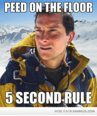 5 second rule: PEED ON THE FLOOR  5 SECOND RULE  MORE FUN DAMNLOLCOM