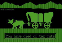 (WR) Of course. Just one more thing to die of before I make it to Oregon.: PEING LIBERTARIAN  You have died of tax cuts (WR) Of course. Just one more thing to die of before I make it to Oregon.