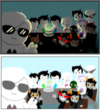 Target, Tumblr, and Blog: pekopiyep:  my first 413 ^u^not as good as i wanted it to be, but maybe next year my art skills will be better and i can do something better??(forgot vriska's glasses and eye but im soo laazy and i want to play OW right NOW)