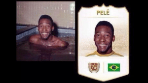 Pele, Picture, and Still: PELE I still laugh at EAs choice of picture for Pelé