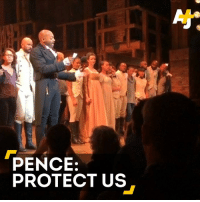"Vice President-elect Mike Pence went to see the musical ""Hamilton"" ... and the cast had a special message for him.: PENCE:  PROTECT US Vice President-elect Mike Pence went to see the musical ""Hamilton"" ... and the cast had a special message for him."
