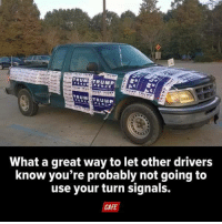 Via CAFE: PENCE  TRUMETRUMP  What a great way to let other drivers  know you're probably not going to  use your turn signals.  CAFE Via CAFE