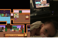 <p>Expectations VS Reality - Life can&rsquo;t always be like a video game</p>: Penelope is sleeping. <p>Expectations VS Reality - Life can&rsquo;t always be like a video game</p>