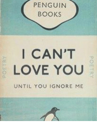 🙋🙋🙋🙋🙋: PENGUIN  BOOKS  I CAN'T  LOVE YOU  UNTIL YOU IGNORE ME 🙋🙋🙋🙋🙋