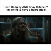 Funny, Memes, and Penn Badgley: Penn Badgley AND Shay Mitchell?  l'm going to have a heart attack Looking for something to do tonight? @YOUonLifetime premiere's tonight on @LifetimeTV at 10-9c. Starring @shaymitchell AND @pennbadgley, what more could you ask for 😱. ad WatchingYOU YOUonLifetime