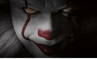 Pennywise the clown, star of Stephen King's novel It, played by Bill Skarsgård.: Pennywise the clown, star of Stephen King's novel It, played by Bill Skarsgård.
