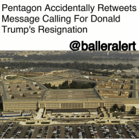 "Pentagon Accidentally Retweets Message Calling For Donald Trump's Resignation - blogged by @baetoven_ ⠀⠀⠀⠀⠀⠀⠀ ⠀⠀⠀⠀⠀⠀⠀ On Thursday, the US Department of Defense mistakenly retweeted a message that included a call for DonaldTrump's resignation. ⠀⠀⠀⠀⠀⠀⠀ ⠀⠀⠀⠀⠀⠀⠀ The original message was tweeted from an account belonging to an anti-Trump activist. Part of the tweet read, ""Donald Trump: Resign from the presidency."" The rest of the tweet called for Roy Moore and Al Franken to step down from their positions following recent sexual abuse allegations. ⠀⠀⠀⠀⠀⠀⠀ ⠀⠀⠀⠀⠀⠀⠀ The Pentagon's primary account retweeted the message to its 5.2 million followers, but quickly deleted it. However, Twitter users had already taken screenshots of the retweet and passed it around the social network. ⠀⠀⠀⠀⠀⠀⠀ ⠀⠀⠀⠀⠀⠀⠀ One user even tweeted, ""Looks like that ex-Twitter employee found a new gig at the Pentagon,"" in reference to an incident earlier this month when a Twitter employee deactivated Trump's account. ⠀⠀⠀⠀⠀⠀⠀ ⠀⠀⠀⠀⠀⠀⠀ Dana White, Chief Pentagon spokesperson, gave an explanation via Twitter of how the error occurred, saying: ⠀⠀⠀⠀⠀⠀⠀ ⠀⠀⠀⠀⠀⠀⠀ ""An authorized operator of the @DeptofDefense's official Twitter site erroneously retweeted content that would not be endorsed by the Department of Defense. The operator caught this error and immediately deleted it."": Pentagon Accidentally Retweets  Message Calling For Donald  Trump's Resignation  @balleralert Pentagon Accidentally Retweets Message Calling For Donald Trump's Resignation - blogged by @baetoven_ ⠀⠀⠀⠀⠀⠀⠀ ⠀⠀⠀⠀⠀⠀⠀ On Thursday, the US Department of Defense mistakenly retweeted a message that included a call for DonaldTrump's resignation. ⠀⠀⠀⠀⠀⠀⠀ ⠀⠀⠀⠀⠀⠀⠀ The original message was tweeted from an account belonging to an anti-Trump activist. Part of the tweet read, ""Donald Trump: Resign from the presidency."" The rest of the tweet called for Roy Moore and Al Franken to step down from their positions following recent sexual abuse allegations. ⠀⠀⠀⠀⠀⠀⠀ ⠀⠀⠀⠀⠀⠀⠀ The Pentagon's primary account retweeted the message to its 5.2 million followers, but quickly deleted it. However, Twitter users had already taken screenshots of the retweet and passed it around the social network. ⠀⠀⠀⠀⠀⠀⠀ ⠀⠀⠀⠀⠀⠀⠀ One user even tweeted, ""Looks like that ex-Twitter employee found a new gig at the Pentagon,"" in reference to an incident earlier this month when a Twitter employee deactivated Trump's account. ⠀⠀⠀⠀⠀⠀⠀ ⠀⠀⠀⠀⠀⠀⠀ Dana White, Chief Pentagon spokesperson, gave an explanation via Twitter of how the error occurred, saying: ⠀⠀⠀⠀⠀⠀⠀ ⠀⠀⠀⠀⠀⠀⠀ ""An authorized operator of the @DeptofDefense's official Twitter site erroneously retweeted content that would not be endorsed by the Department of Defense. The operator caught this error and immediately deleted it."""