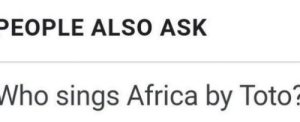 Africa, Irl, and Me IRL: PEOPLE ALSO ASK  Who sings Africa by Toto me irl
