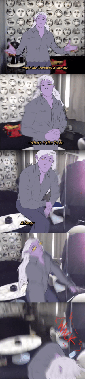 cranberrysugar:lotor found dead in space miamiAsk before reposting onto IG and/or any other social media sight, please.: People Are Constantly Asking Me   What's It Like To Be   ASexy- cranberrysugar:lotor found dead in space miamiAsk before reposting onto IG and/or any other social media sight, please.