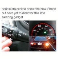 Anaconda, Iphone, and Memes: people are excited about the new iPhone  but have yet to discover this little  amazing gadget  80 100  120 4O 160  60  180 120  100  80  kmm MPH  11 2436 Give it a try