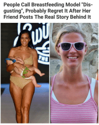 """Memes, Regret, and Breastfeeding: People Call Breastfeeding Model """"Dis-  gusting"""", Probably Regret It After Her  Friend Posts The Real Story Behind It What y'all think? 👉 @handpickedhighlights"""