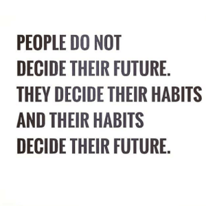 Future, Hood, and They: PEOPLE DO NOT  DECIDE THEIR FUTURE  THEY DECIDE THEIR HABITS  AND THEIR HABITS  DECIDE THEIR FUTURE 🎯