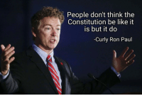 Be Like, Constitution, and Ron Paul: People don't think the  Constitution be like it  is but it do  -Curly Ron Paul
