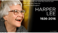 """People generally see what they look for and hear what they listen for."" -Harper Lee [2000 x 1136]: People generally see what they look for and  hear what they listen for.  To Kill a Mockingbird.  HARPER  LEE  1926-2016  CNBC ""People generally see what they look for and hear what they listen for."" -Harper Lee [2000 x 1136]"