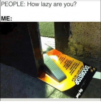 Lazy, Memes, and Snapchat: PEOPLE: How lazy are you?  ME Snapchat: DankMemesGang
