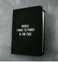 Punch In The Face: PEOPLE  I WANT TO PUNCH  IN THE FACE