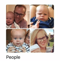 People My phone (fairly) thinks that grumpy smushface newborn Pal is a different person from sweet happy bigboy Pal. littlepalindrome tbt